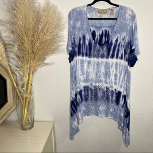 Life style woman tie dye top size 3X